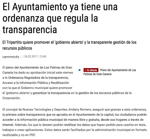 ordenanza reguladora transparencia